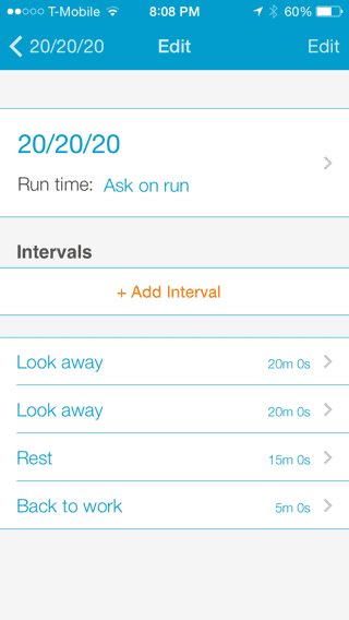 Interval Chime Settings
